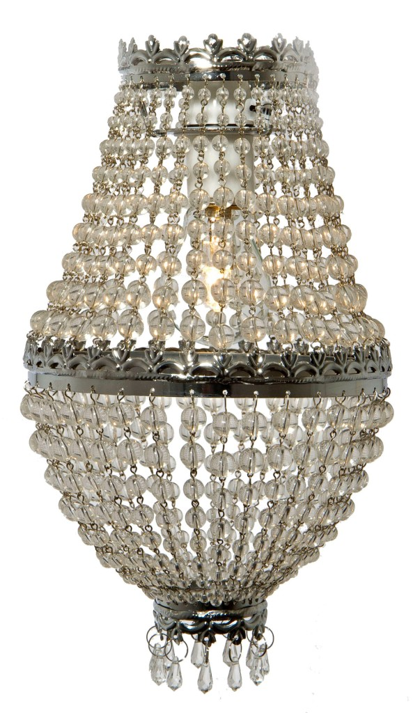 chrome silver beaded droplet pendant chandelier light l