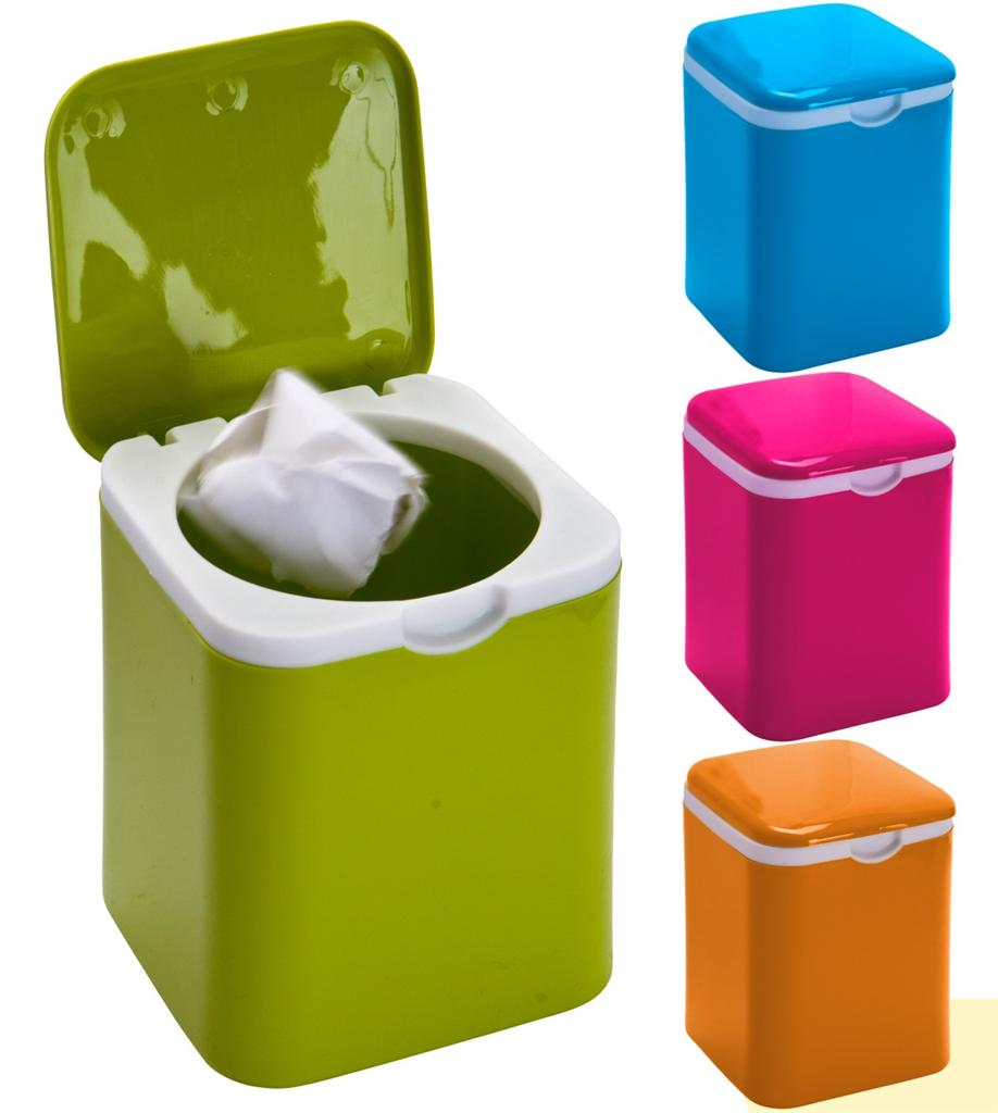 Kitchen Waste Bins: 1.2l Mini Dustbin Office Bin Micro Kitchen Food Recycling