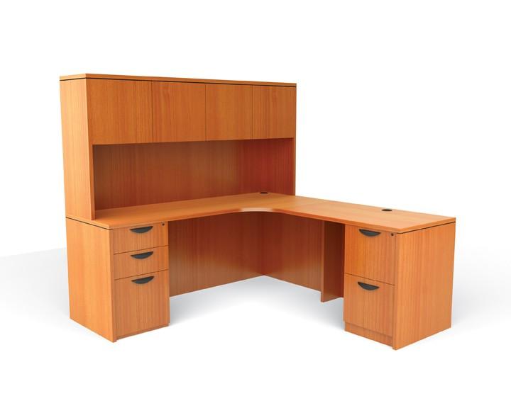 Double Pedestal L Shape Laminate Office Furniture Desk Ebay