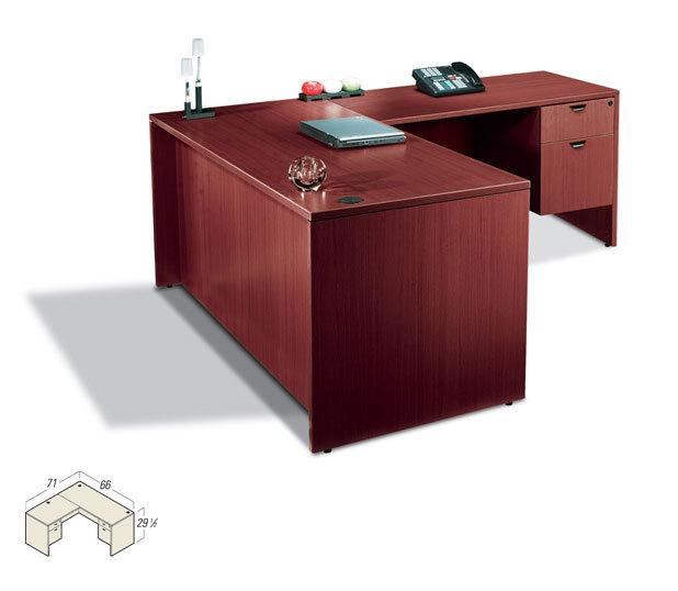 contemporary executive laminate l shape office desk ebay