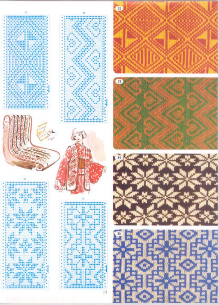 Brother Knitting Machine Punchcard Pattern Book Vol 2