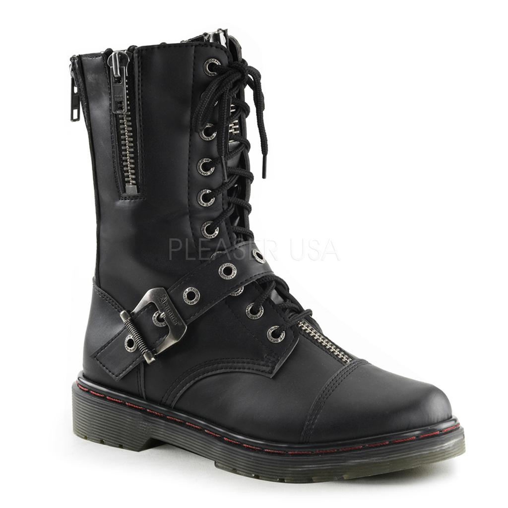 demonia disorder 206 goth gothic punk combat black calf boots biker men 39 s 4 14 ebay. Black Bedroom Furniture Sets. Home Design Ideas