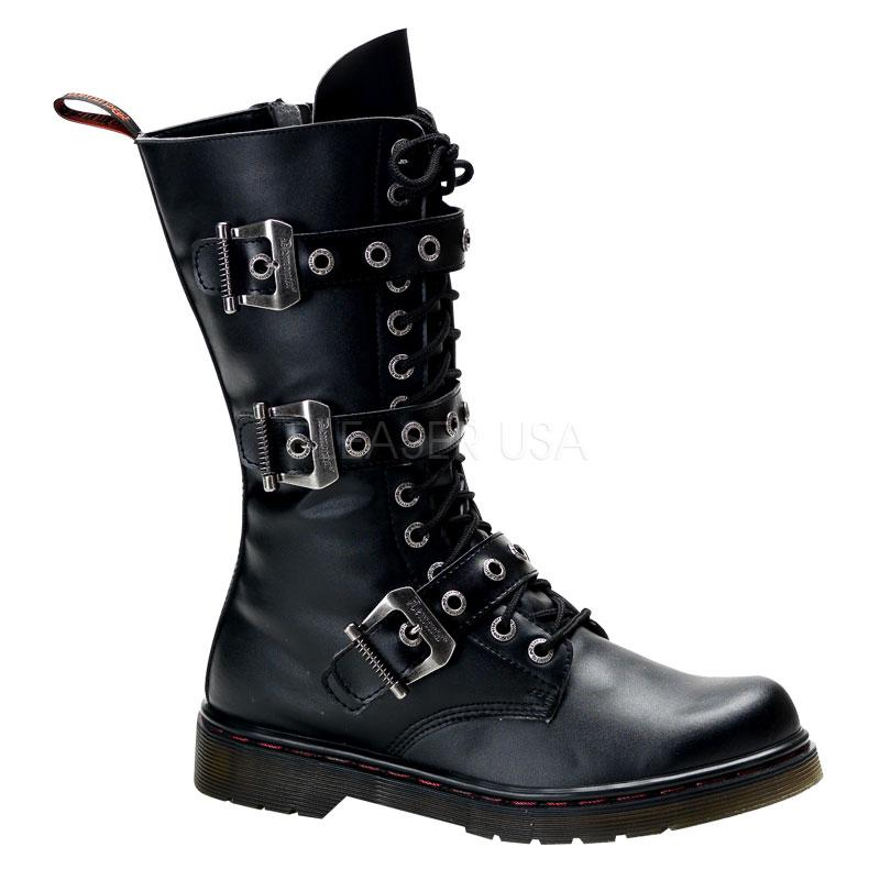 Model  315 Women39s Gothic Punk Chained Studded Strap Combat Goth Boots  EBay
