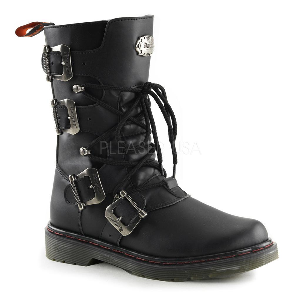 Lastest  Disorder303 Goth Gothic Punk Biker Combat Black Boots Women39s 616