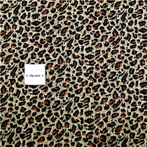 FabriQuilt Cotton Fabric Leopard Print, Brown Black By the Yard