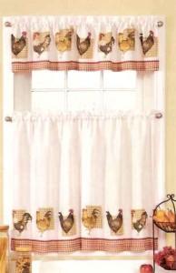 New Sets Chicken Rooster Kitchen Curtains Valances