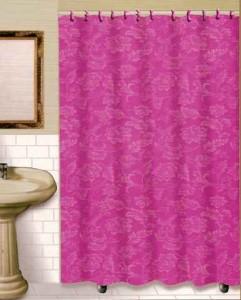 Nip Pink Floral Matching Hooks Fabric Shower Curtain Ebay