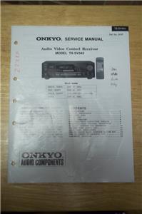 onkyo tx sr508 service manual