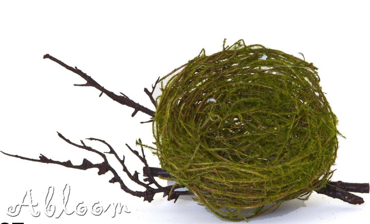 Bird nest decoration artificial moss twine nest on for Artificial birds for decoration