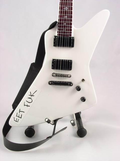 Details about miniature guitar james hetfield eet fuk exp metallica