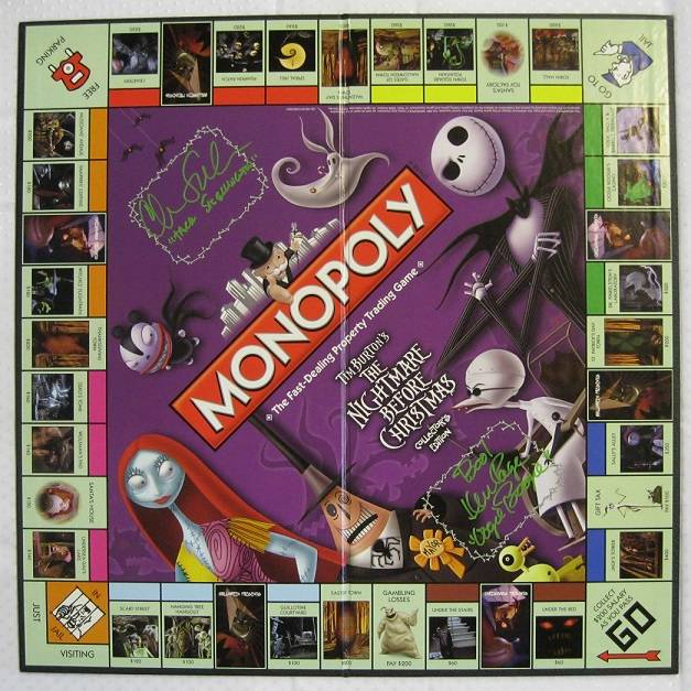 ... Ken Page Signed Nightmare Before Christmas Monopoly Board Auto | eBay
