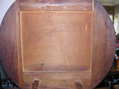 Old antique solid wood three drawer bedroom dresser vanity for Antique vanity with round mirror