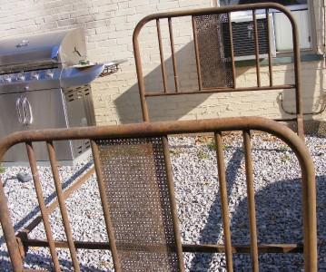 Antique Vintage Iron Bed W Headboard Footboard Amp Rails