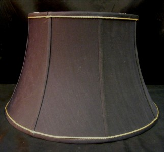 dark navy black fabric lamp shade w gold rope trim. Black Bedroom Furniture Sets. Home Design Ideas