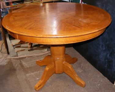 42 inch round oak pedestal kitchen dining foyer lightweight table ebay. Black Bedroom Furniture Sets. Home Design Ideas