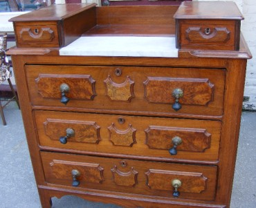 Antique victorian eastlake dresser bureau mirror marble for Bureau with mirror