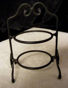 Two Tier 6 Quot Tall Wrought Iron Longaberger Pie Plate Rack