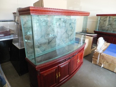 New 180 gallon redwood aquarium with cabinet lights for 180 gallon fish tank