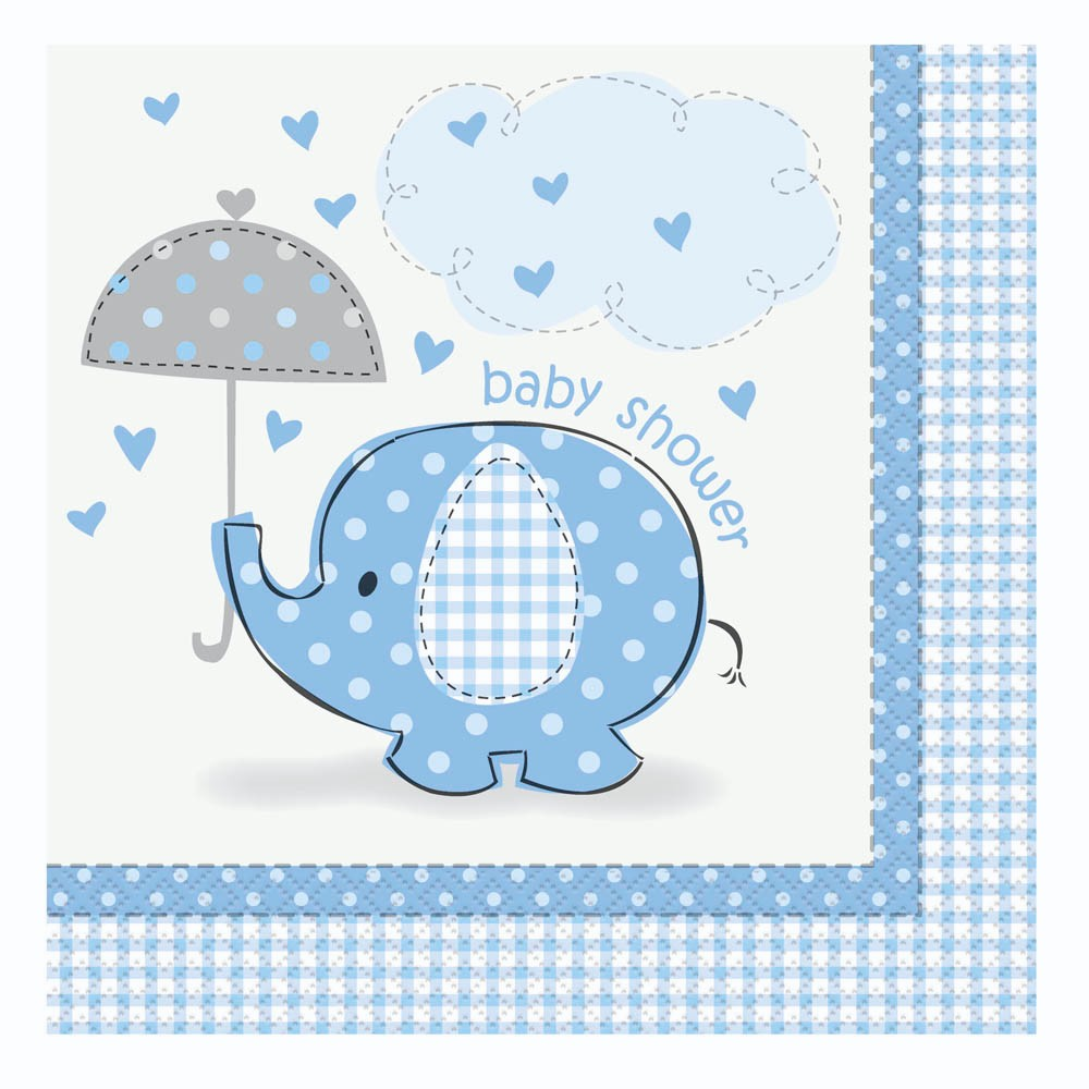 elephants luncheon napkins baby shower party supplies baby boy ebay