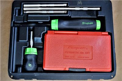 snap on tools green ratcheting soft grip screwdriver set sgdmrc108a ebay. Black Bedroom Furniture Sets. Home Design Ideas