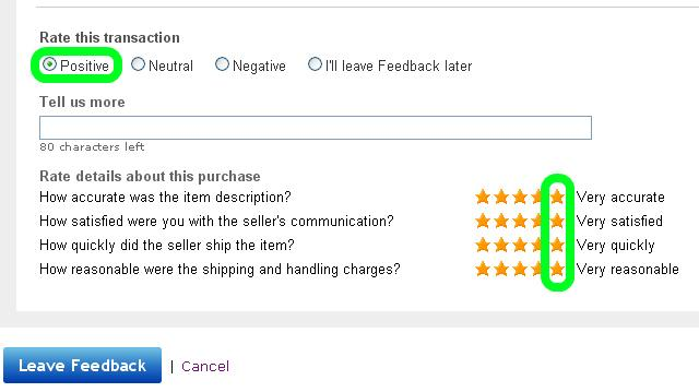 We strive for 5 star feedback every time