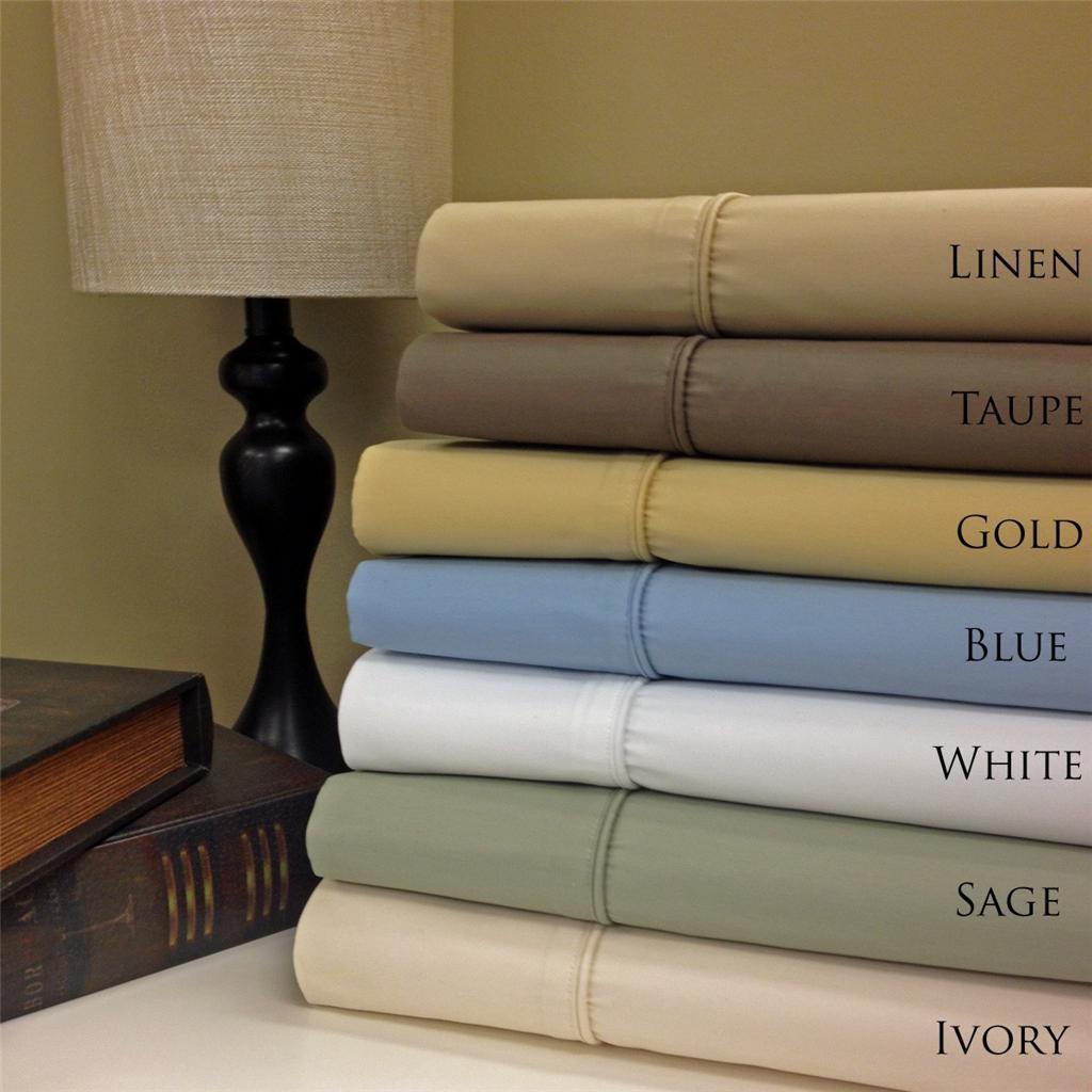 650 tc wrinkle free egyptian cotton 22 deep pocket queen size sheet sets ebay. Black Bedroom Furniture Sets. Home Design Ideas