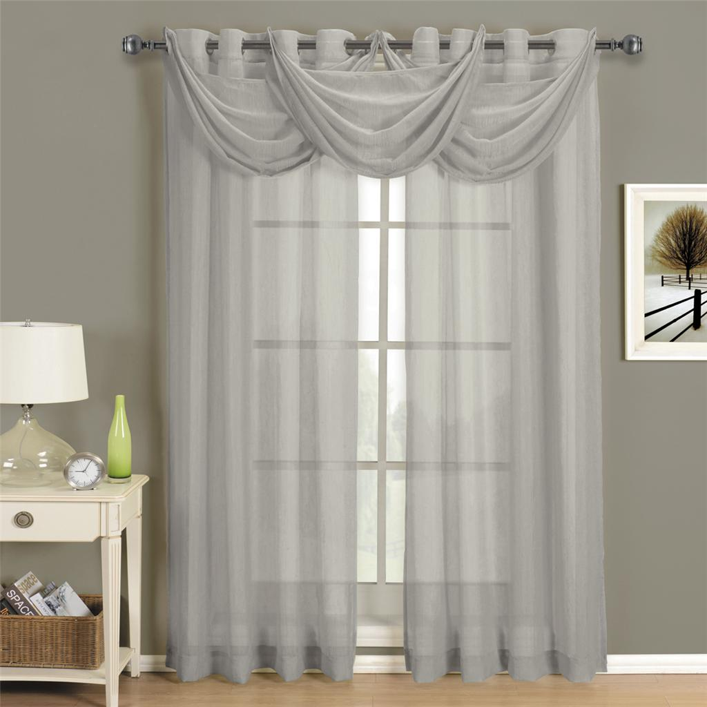 Abri-Grey-Grommet-Crushed-Sheer-Curtain-Panel