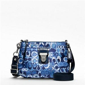 about COACH SIGNATURE DENIM BLUE POPPY MESSENGERCROS SBODY BAGPURSE ...