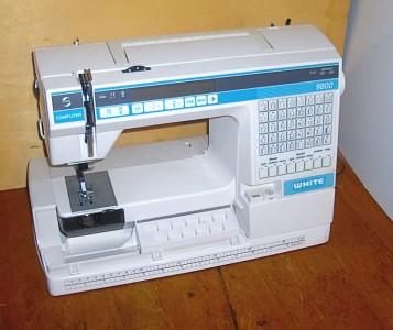 white computer sewing machine