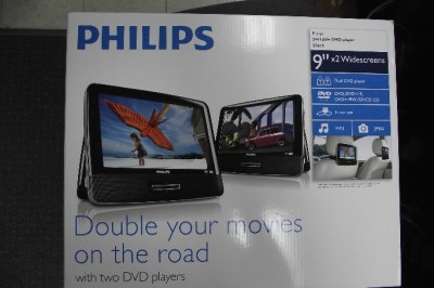 Philips Pd9016 9 Portable Dual Lcd Dvd Players for CAR.