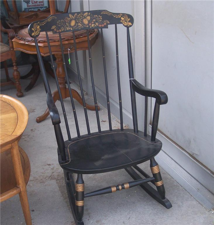 Maple Handpainted Nichols Stone Rocker Rocking Chair Ebay