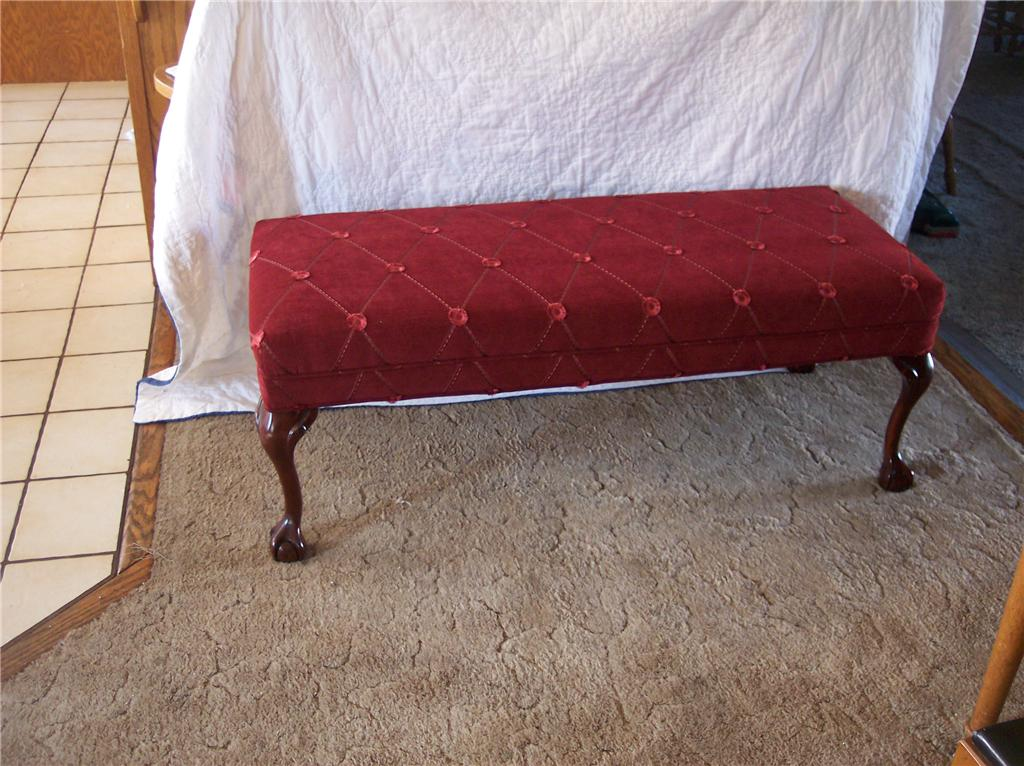 Mahogany Ball Claw End Of Bed Bench Entry Bench Ebay