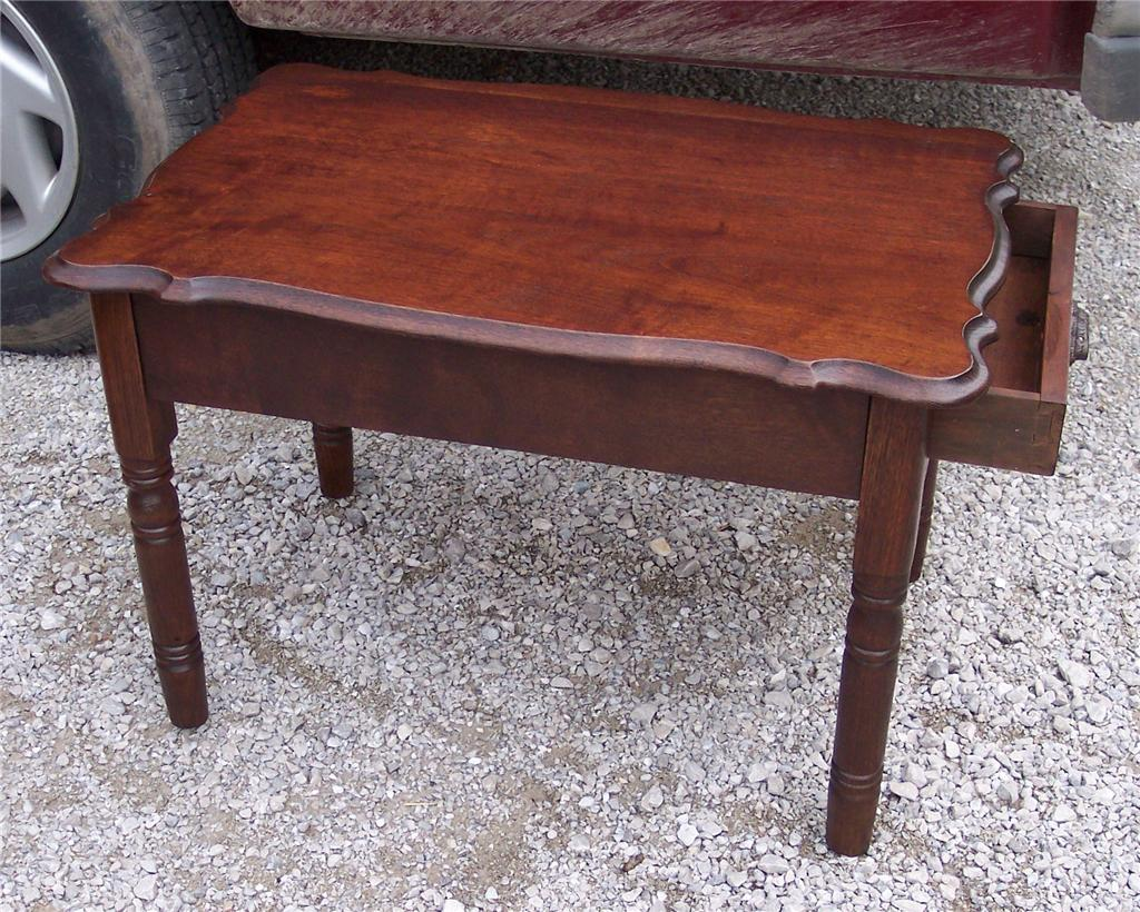 Oak End Table Side Table with Drawer T211