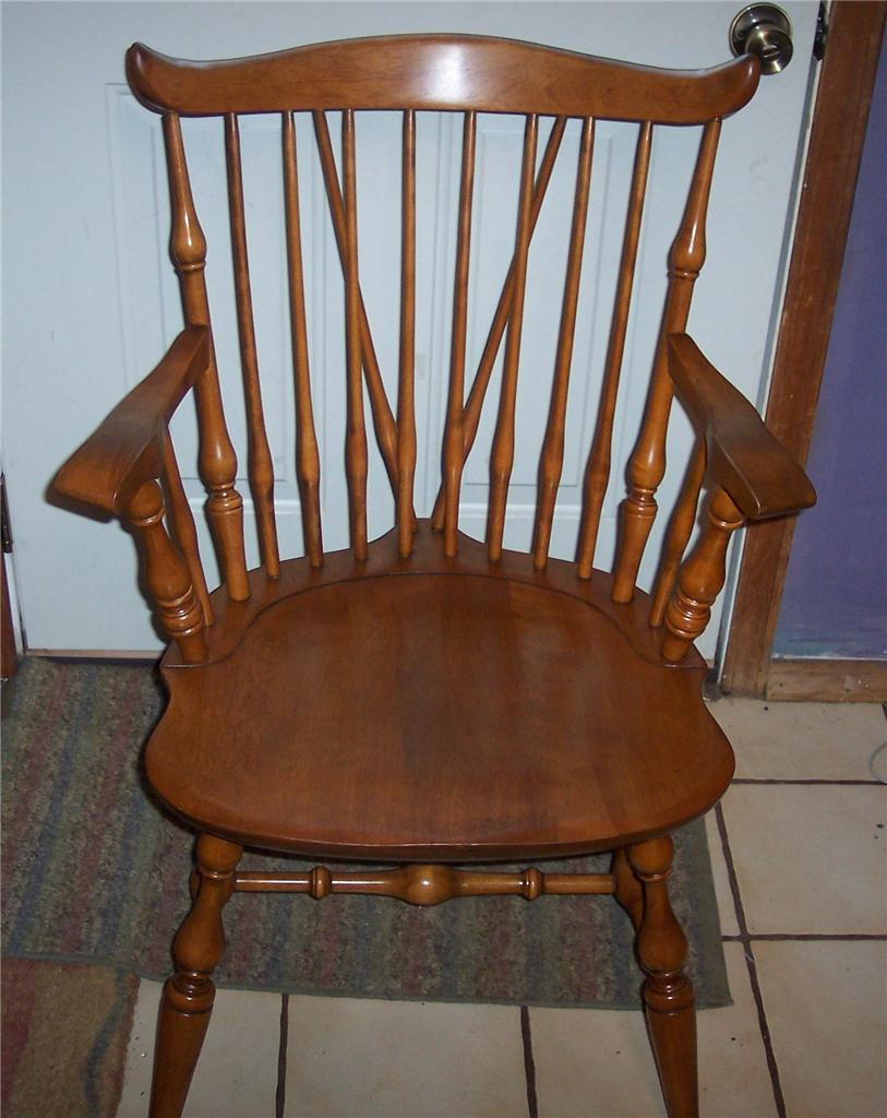 Nichols And Stone Maple Windsor Armchair Dinette Chair Ebay
