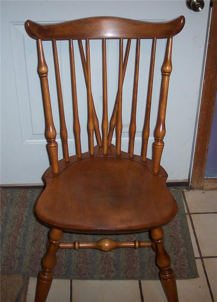 Details about Nichols and Stone Maple Windsor Sidechair/Dine tte Chair