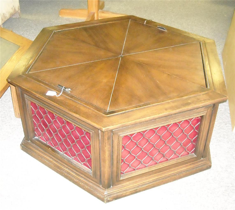 Oak Hexagon Stereo Table Coffee Table T236 Ebay
