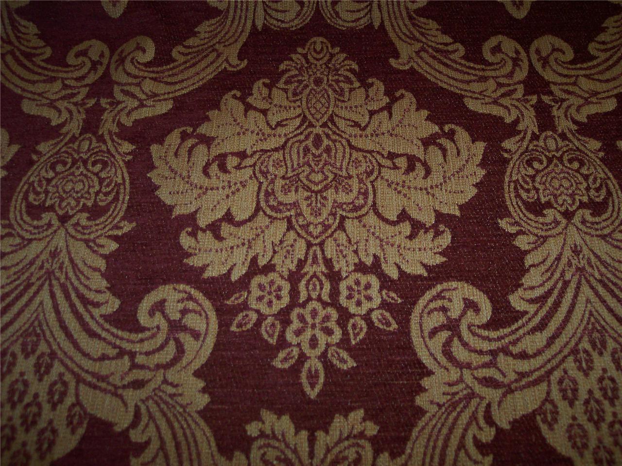 Canyon Red Gold Jacquard Fabric Upholstery Fabric 83 Ebay