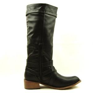 womens knee high motorcycle boots black 7us 37eu
