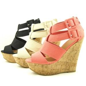 Canvas Wedge Heel Sandals,Women s Shoes,Cork Platforms 5.5-10US/36