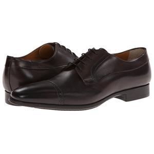 santoni quot redmond quot cap toe derby s leather dress shoes