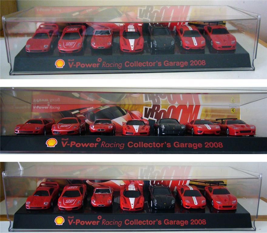 Cars Collector Garages: 8 Shell V Power FERRARI MODEL Car + Collector's Garage