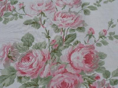 Laura ashley country english shabby roses floral ruffled for English floral curtains