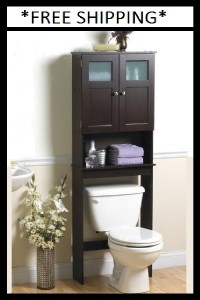 bathroom spacesaver cabinet over toilet storage shelf bath tank topper