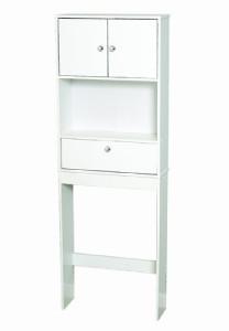 new bathroom spacesaver cabinet over toilet storage shelf tank topper