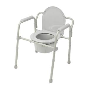 Portable Commode Folding Bedside Handicap Adult Toilet Potty Chair Elevated S