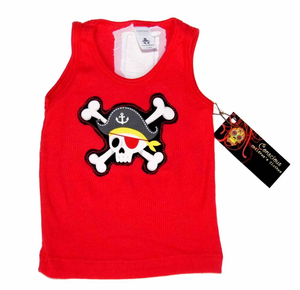 New Rockabilly Pirate Punk Rock Crossbones Baby Boy Girl
