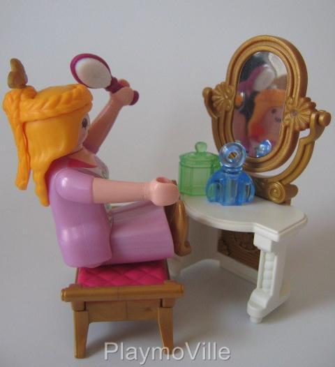Playmobil lady princess dressing table new palace for Table playmobil