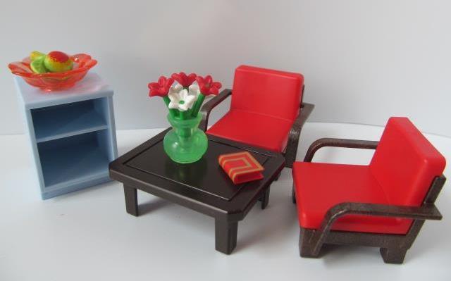 Playmobil coffee table chairs new dollshouse hospital for Table playmobil