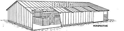 Barn plans blueprints horse cattle trailer corral farm ebay for 32x48 pole barn