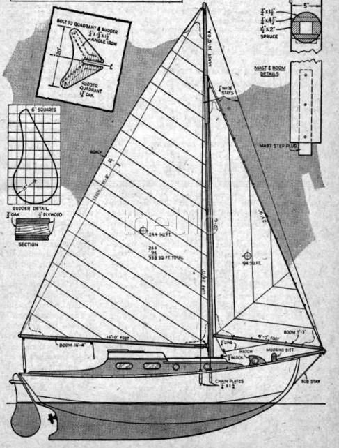 wooden sailboat plans free | Quick Woodworking Projects